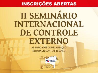 Imagem sobre II Seminário de Controle Externo inscreve participantes até 31/7