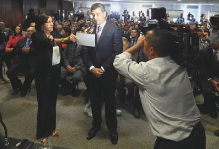 Imagem sobre Posse de conselheiro Marcus Presídio é marcada pela emoção